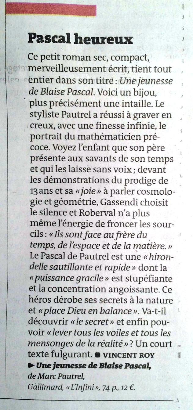 Revue de presse : Le Monde ...